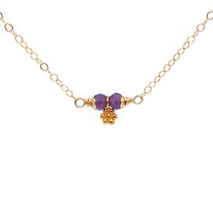 GF Amethyst Tiny Daisy Necklace