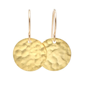 GF Hammered Disc Earring copy