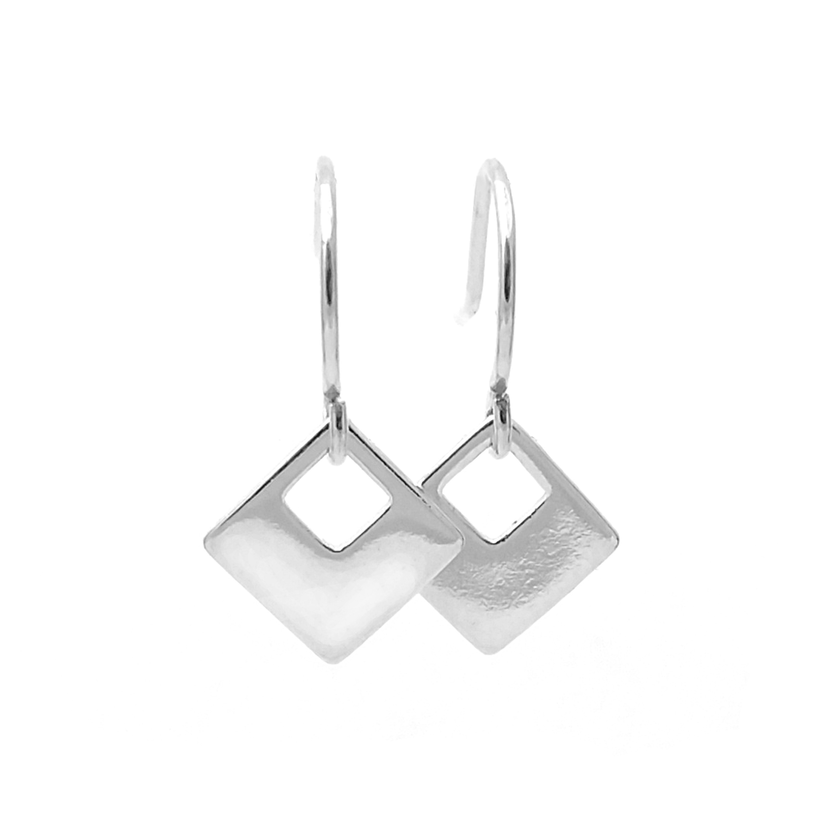 Square 14k Gold Filled And Sterling Silver Earrings