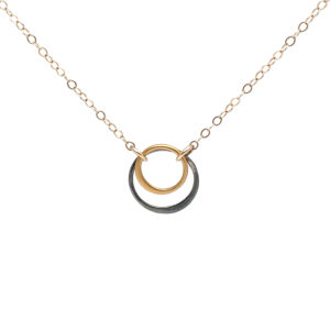 GF Simple Double Blk Ring Necklace copy