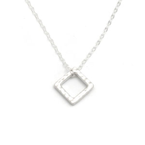SS Hammered Ring Square