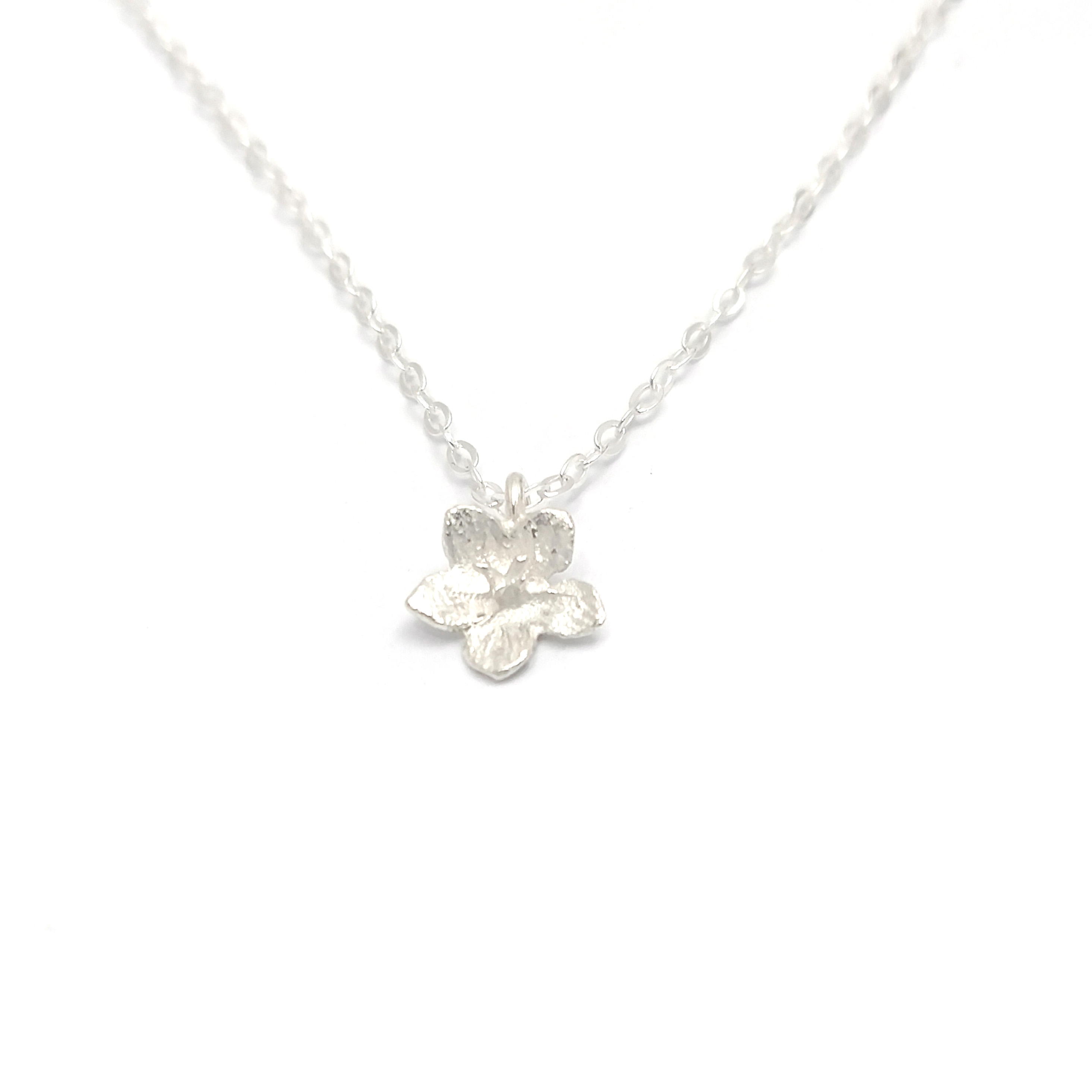 Tiny flower sterling silver layering necklace soasa designs for Gemsprouts tiny plant jewelry